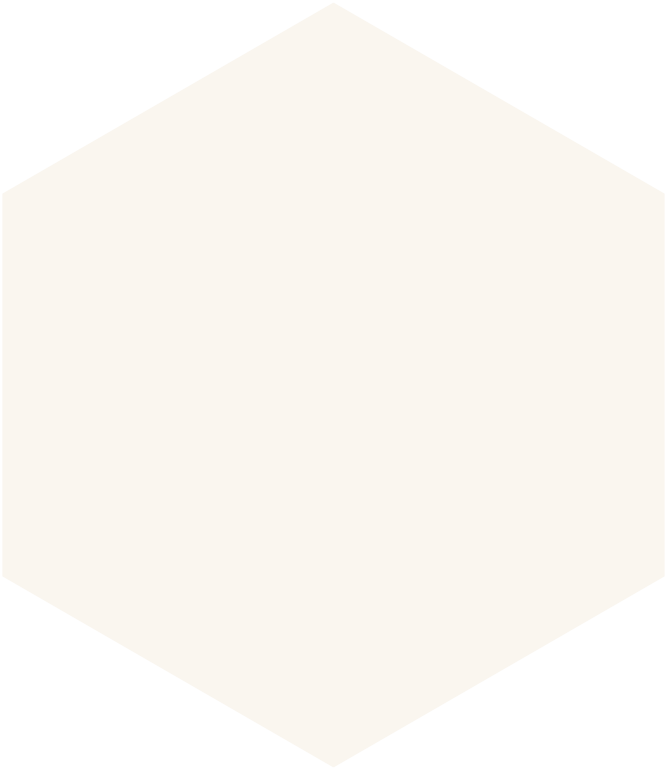 Hexagon in beige
