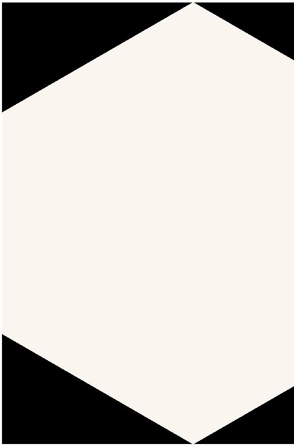 Hexagon in beige gespiegelt