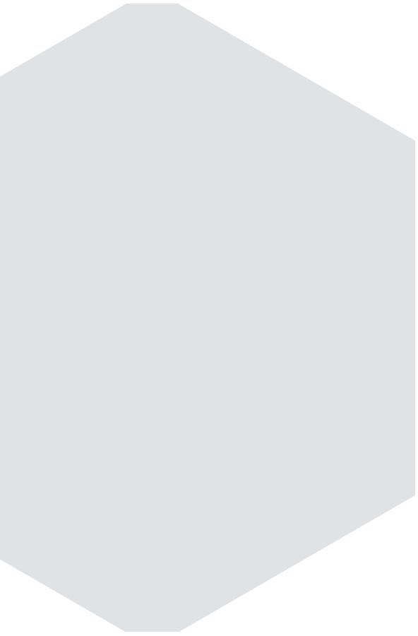 Hexagon taubengrau gespiegelt
