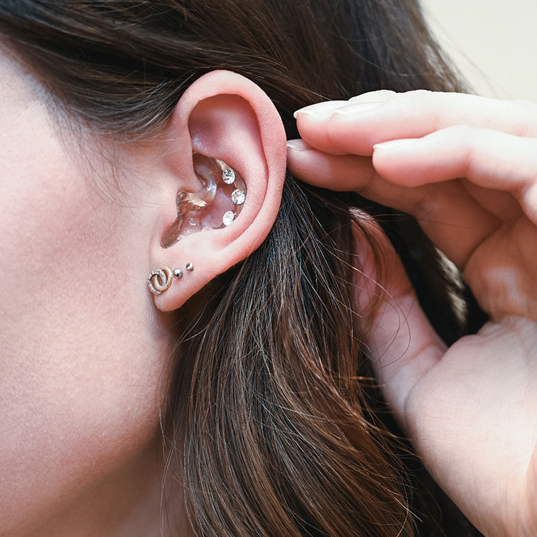 Impression Transparentes Hörgerät