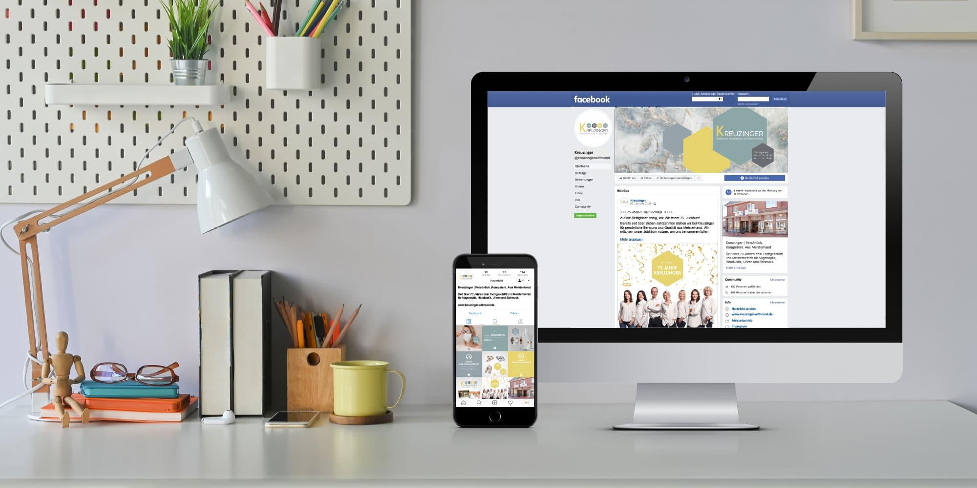 Kreuzinger News - Facebook und Instagram